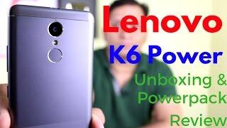 Download Hindi | Lenovo K6 Power Unboxing & Powerpack Review - New Budget Killer | Sharmaji Technical Video
