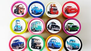Download Сups Stacking Toys Play Doh Disney Cars 2 Collection Lightning Mcqueen Dinoco Learn Colors for Kids Video