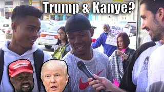 Download People On The Street Talk Kanye West & Donald Trump! Video