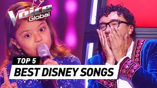 Download The Voice Kids | BEST DISNEY SONGS in The Blind Auditions [PART 2] Video