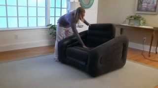 Download Intex Inflatable One Person Chair Sofa Bed in Action - Outdoorleisuredirect.co.uk Video