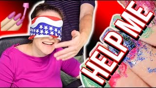 Download NAIL PAINTING HOSTAGE SITUATION | Blindfolded Nails Challenge Video