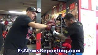 Download IVAN DELGADO PERFECTING HIS DEVASTATING LEFT HOOK FOR DEC. 17TH BERNARD HOPKINS CARD FIGHT DATE Video