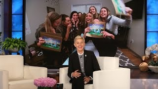 Download Ellen Surprises Superfan Sorority Sisters! Video