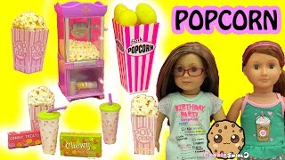 Download American Girl Doll Popcorn Machine & Pop Corn Box of Surprise Eggs and Mystery Blind Bags Video