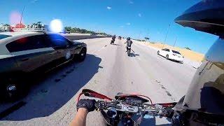 Download Cops VS Bikers 2016 [Ep.#09] Highway Police Chase! Getaway Crash! Arguing With Police! Video
