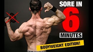 Download Bodyweight Back Workout (SORE IN 6 MINUTES!) Video