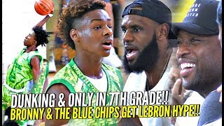 Download LeBron James & D-Wade Watch Bronny GET SHIFTY & CRAZY Dunking 7th Grader!! SHAREEF WAS THERE TOO! Video