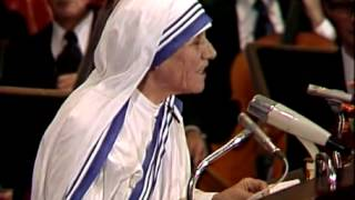 Download Acceptance Speech by Mother Teresa Media Player at Nobelprize org Video