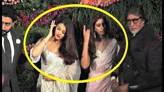 Download Aishwarya Rai And Shweta Nanda Cold Fight At Anushka Sharma - Virat Kohli Mumbai Reception Video