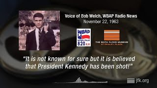 Download Bob Welch of WBAP reports on the assassination of President Kennedy Video