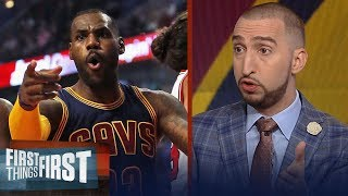 Download King Slayers: Nick Wright on LeBron's Cavs losing to Lillard's Blazers | FIRST THINGS FIRST Video