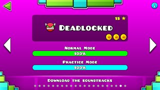 Download Geometry Dash - ″Deadlocked″ 100% Complete [All Coins] | GuitarHeroStyles Video