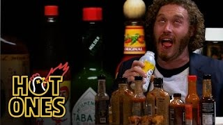 Download T.J. Miller Talks Deadpool, Hecklers, and Relationship Advice While Eating Spicy Wings | Hot Ones Video