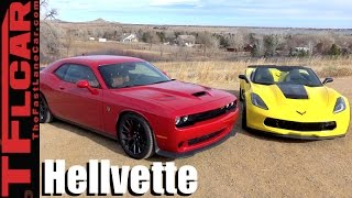 Download 2017 Chevy Corvette Grand Sport vs Dodge Challenger Hellcat Mashup Review: Which One To Buy? Video