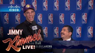 Download Jimmy Kimmel Talks to LA Lakers #2 NBA Draft Pick Lonzo Ball Video