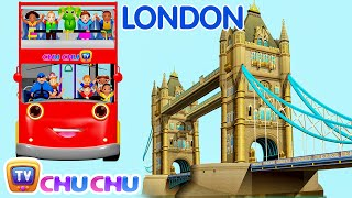 Download Wheels On The Bus Go Round And Round Song | London City | Popular Nursery Rhymes by ChuChu TV Video