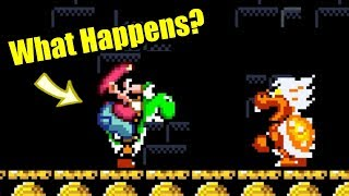 Download Super Mario World - What happens when Yoshi enters Castles? Video