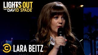 """Download """"That Relationship Lasted for Two Sexes"""" - Lara Beitz - Lights Out with David Spade Video"""