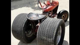 Download NASTY HOT RAT ROD ″WHEEL HORSE″ TRACTOR 10″ CRAGARS FAT TIRES SCREAMIN' HONDA ENGINE Video