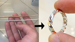Download Making a ring from Copper and Silver Wire! | Jewellery Making | How it's Made | 4K Video Video