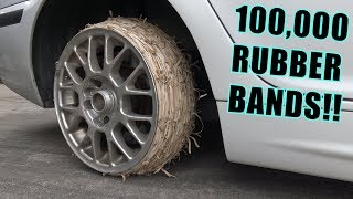 Download We Tried RUBBER BAND Tires Video