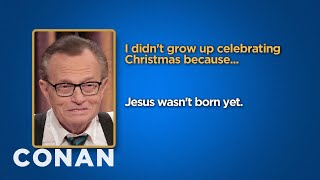 Download Celebrity Survey: Larry King, Hillary Clinton Edition - CONAN on TBS Video
