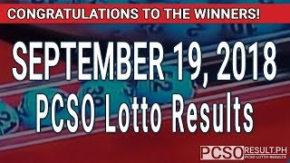 Download PCSO Lotto Results Today September 19, 2018 (6/55, 6/45, 4D, Swertres, STL & EZ2) Video