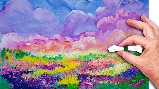 Download Flowers Cotton Swabs 🌸💜 Painting Technique for Beginners 💜 Basic Easy Step by step Video