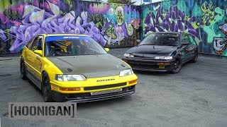 Download [HOONIGAN] DT 205: Mugen vs Spoon Honda CRX Battle #SPACERACE Video