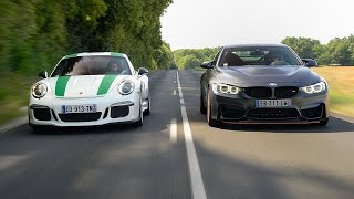 Download 2016 Porsche 911 R vs BMW M4 GTS vs l'invitée mystère [Subtitled] Video