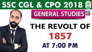 Download SSC CGL 2018   CPO 2018   The Revolt of 1857   GS   7:00 pm Video