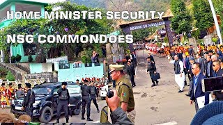 Download Home Minister entry with NSG Commandoes at Hornbill Festival in Nagaland, India Video