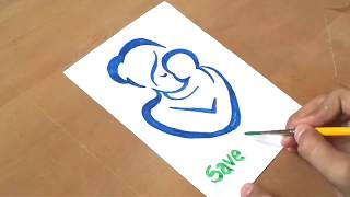 Download Save the Girl Child poster - drawing poster for kids Video