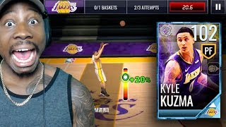 Download 102 OVR KYLE KUZMA SHOOTING FROM HALF COURT! NBA Live Mobile 18 Gameplay Pack Opening Ep. 64 Video