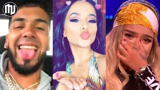 Download ¡UY! Anuel le dedica un verso a Becky G y Karol G se posiciona! | Top 100 de los artistas globales Video