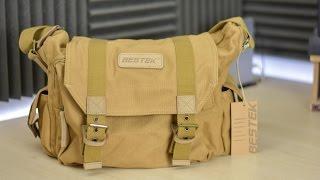Download BESTEK Khaki Canvas Waterproof DSLR Camera Bag Review Video