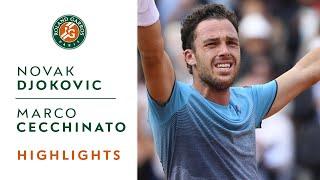 Download Novak Djokovic vs Marco Cecchinato - Quarterfinals Highlights I Roland-Garros 2018 Video