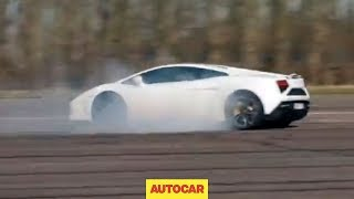 Download What happens to a Lamborghini Gallardo when you switch traction control off? Video