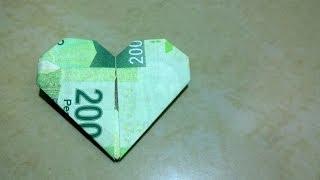 Download Billete en forma de corazón para regalar ( Manualidades, Origami fácil de hacer) Video