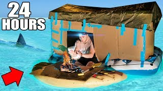 Download 24 HOUR BOX FORT BOAT SURVIVAL CHALLENGE! 📦 Video