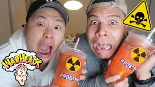 Download DIY GIANT WARHEAD SLUSHIE!! (EXTREME BRAIN FREEZE CHALLENGE) Video