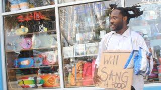 Download Homeless man sings John Legend's ″All Of Me″ Video