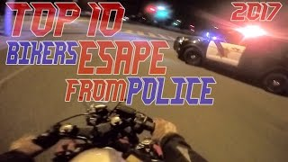 Download TOP 10 Cops VS Bikers ESCAPE Police Chase Motorcycles GETAWAY Running From Cops On Motorcycle 2017 Video