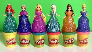 Download Play Doh Sparkle Princess Ariel Elsa Anna Disney Frozen MagiClip Glitter Glider Magic Clip Dolls Video
