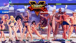 Download Street Fighter V AE Chun Li/Sakura/Ibuki/Kolin/Cammy vs Dhalsim/G/Sagat/M.Bison/Guile PC Mod Video