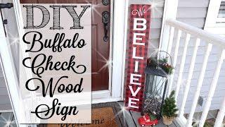 Download DIY Buffalo Check Christmas Wood Sign Video