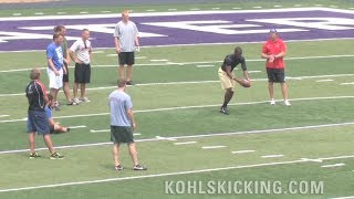 Download Longest Punt | NFL football punters see who can kick the farthest Video
