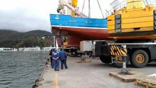 Download Botadura barco en viveiro Video