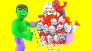 Download HULK GOES TO THE SUPERMARKET ❤ Spiderman, Hulk & Frozen Elsa Play Doh Cartoons For Kids Video